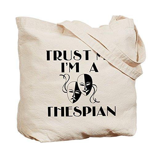 Cafepress–Trust Me I' m A Thespian–Borsa di tela naturale, tessuto in iuta