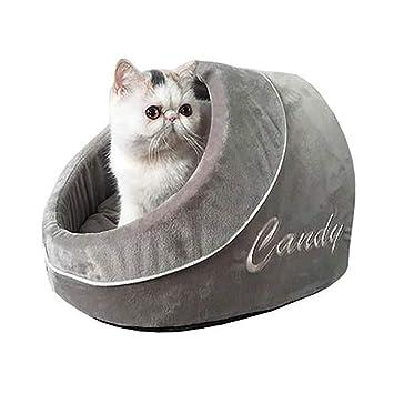 FPigSHS Cama para Mascotas del Nido del Gato Perrera pequeña Bolsa de Dormir para Gatos Otoño e Invierno Mantener el Calor Cerrado Interior para Mascotas ...