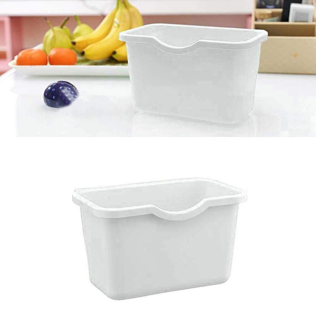 Tingsu ambientale appeso armadio da cucina porta Trash rack di stoccaggio Garbage Boxs (bianco) White