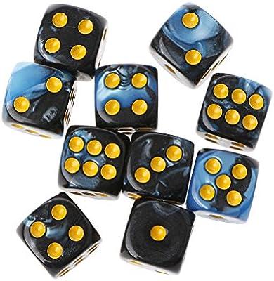 Yinuneronsty - Mesa portátil de esquina redonda de cubo transparente, de 10 unidades, 6 lados de 12 mm, para jugar a los juegos: Amazon.es: Hogar