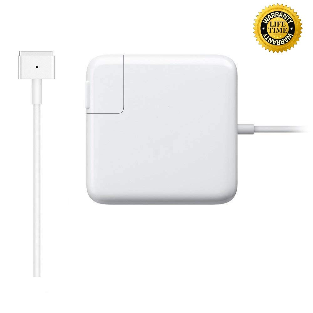 Mac Book Pro Charger, Replacement 60W Magsafe 2 Power Adapter T-Tip Magnetic Connector Charger for Apple MacBook Pro 11 and 13 inch (2012-2015)