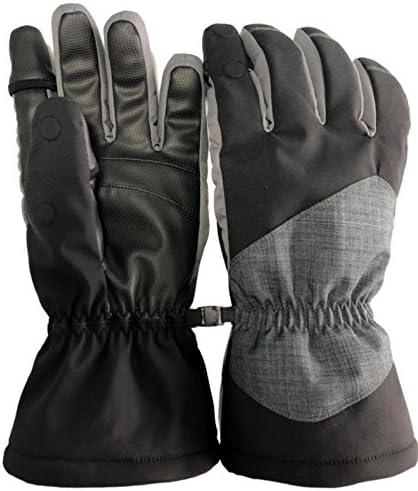 Angeln oder Fotografie. Wasserdicht und winddicht zur/ück ideal zum Skifahren Easy Off Gloves Unisex Thermolite Fold Back Fingerspitzen-Handschuhe mit Magnetverschluss