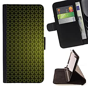 BullDog Case - FOR/Apple Iphone 6 / - / Texture Green Yellow /- Monedero de cuero de la PU Llevar cubierta de la caja con el ID Credit Card Slots Flip funda de cuer