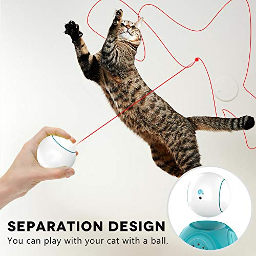 petnf Cat Laser Toy,Laser Ball for Cats,Cat Toys Interactive,Non-Toxic and Eco-Friendly Cat Toy with Three Play Mode,Separation Design and Timer Setting Laser Toy,360°Automatic Rotating Laser Toy 4