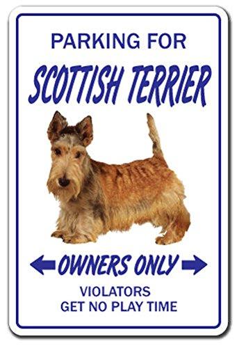 Scottish Terrier Novelty Sign Dog Pet Parking Signs Vet Breeder Kennel Groomer Sticker 8