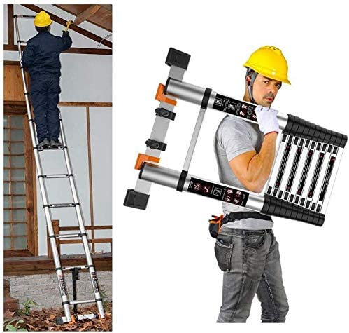 HL-TD Escaleras Extensibles Escalera De Mano Mult-Propósito Telescópica Escalera Plegable De Extensión De Aluminio Escalera Recta Escalera Heces (Size : 2.0m-straightLadder): Amazon.es: Hogar