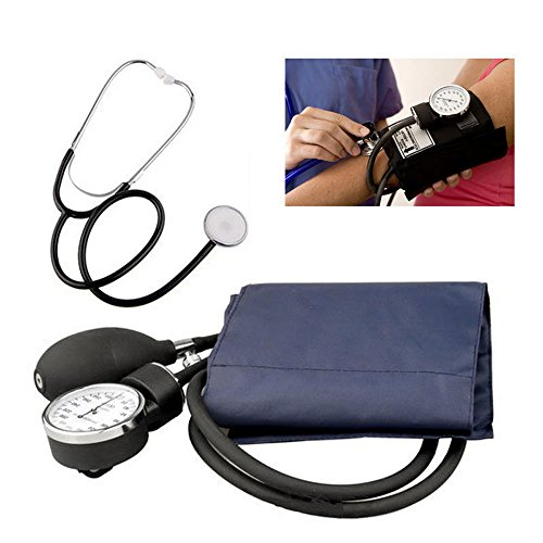 Manual Adult Size Deluxe Aneroid Sphygmomanometer - Professional Blood Pressure BP Monitor with Adult Cuff Set Sphygmomanometer Stethoscope Kit and Carrying Zipper case FDA by None (Image #4)