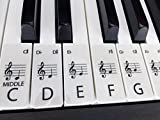 CLEAR STANDARD piano / keyboard stickers for up to 88 keys (61 SET CLEAR)