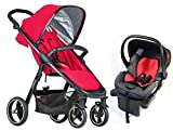 Phil & Teds Smart V3 Travel System Bundle in Cherry (2016+ Version)