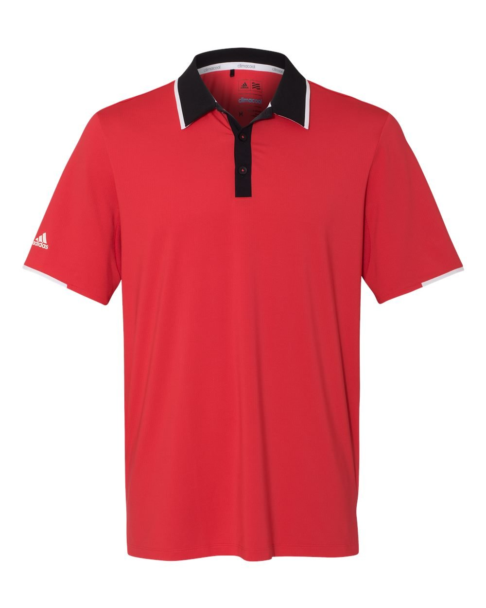 adidas Mens Climacool Performance Colorblock Sport Shirt (A166) -Ray Red/Bl -S