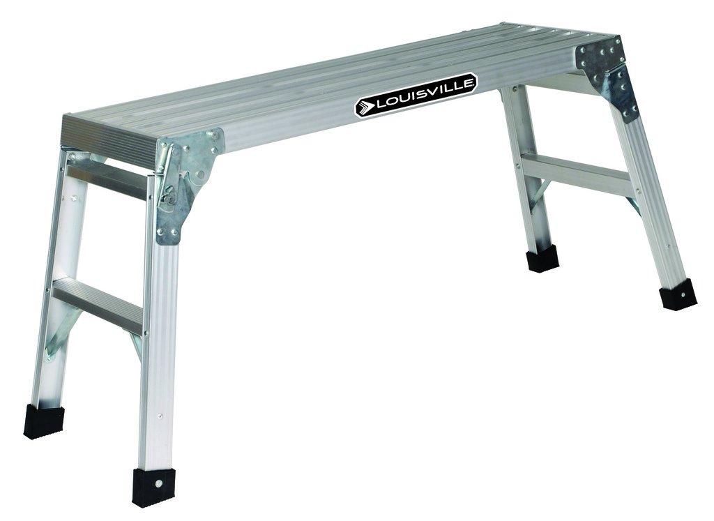 Louisville Ladder L-2241-03 Aluminum Mini Working Platform, 225 Pound Duty Rating