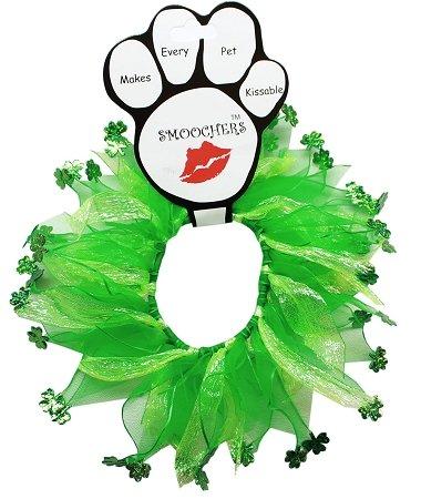 St. Patrick's Day Smoocher Shamrocks Dog Party Collar (Smoocher Shamrocks