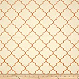 Kaslen Hepburn Embroidered Quatrefoil Nectar Fabric