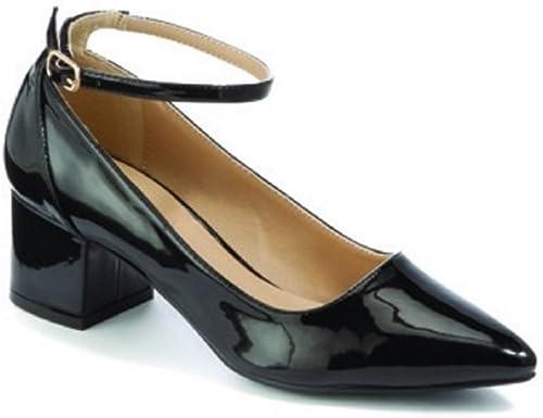 UK 5, Black Patent L701 (Ankle Strap