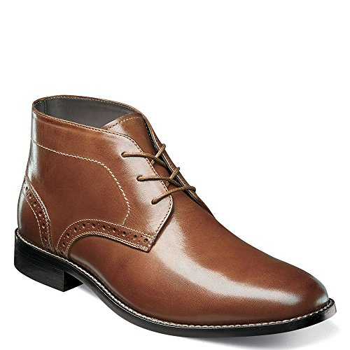 Nunn Bush Mens Nathaniel Plain Toe Chukka Boot Cognac