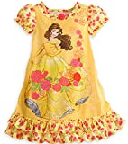 Disney Store Belle Princess Beauty & the Beast Nightshirt Nightgown Girls Yellow