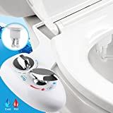 Kyпить Bidet, YECO Self Cleaning Dual Nozzle (Frontal & Rear/Feminine Wash) Hot & Cold Water Spray Non-Electric Mechanical Bidet Toilet Attachment- Adjustable Water Pressure &Temperature - Easy DIY Install на Amazon.com