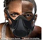 Warrior Elite Sports Training Mask – High Altitude Simulation Workout - Elevation Athletic Air Hypoxic Resistance Exercise – 16 Breathing Levels for Running Cardio Fitness - Men Women Black