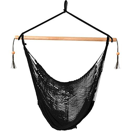 Island Rope Chair Outdoor Hammock, Black