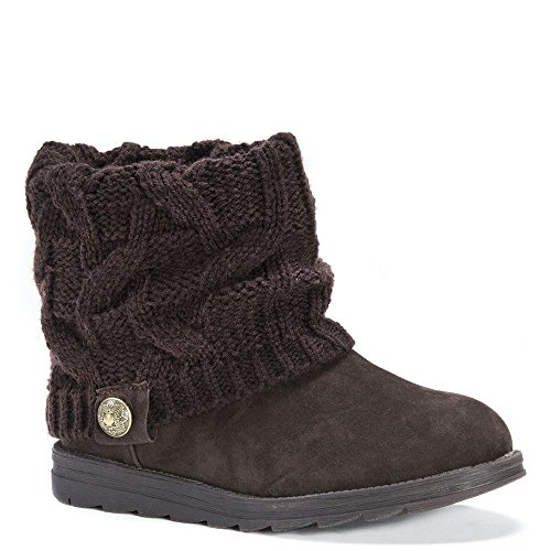 LUKS Boot MUK Women's Brown Ankle Patti Bootie 4vSqSUdF