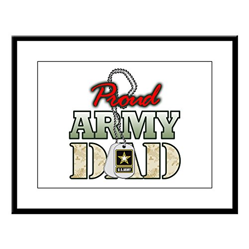 Large Framed Proud Army Dad - canvas dad wall art