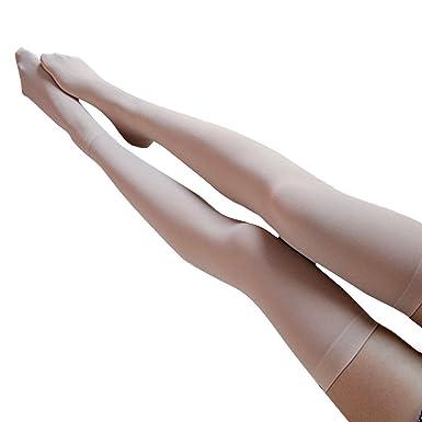 DOGZI Mujer Terciopelo Antideslizante del estudiante Calcetines altos Medias Tubo alto Calcetines encima de la rodilla Calcetines Muslo Largo Algodón ...