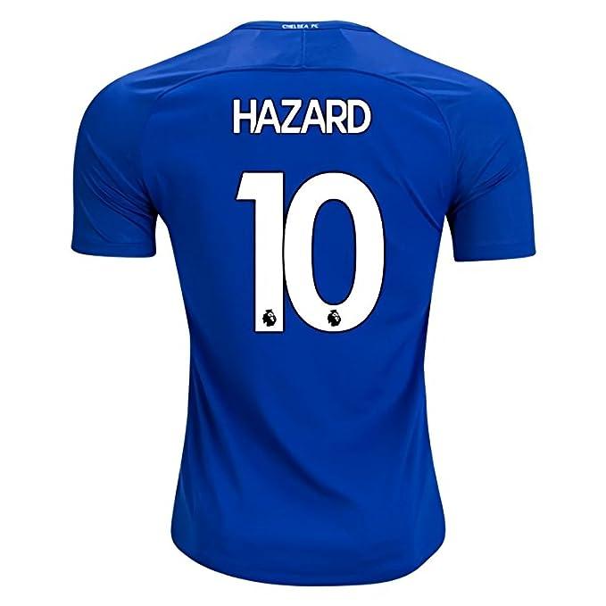 super popular 9e055 8e431 Pri-Z Hazard #10 Chelsea 2017-2018 Home Soccer Jersey Men's Blue Size M