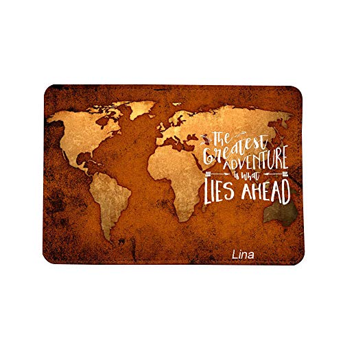 Adventures Old Map Name Customized Cute Leather Passport Holder - Passport Covers_SUPERTRAMPshop by SUPERTRAMPshop (Image #2)