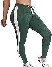 Women Striped Drawstring Pants Women Bowtie Sports Casual Pants