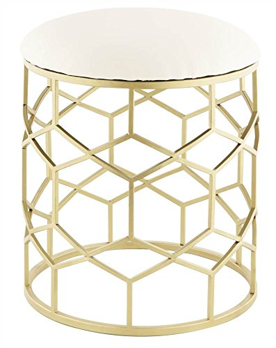 Taymor Industries Reign Stool in Gold Finish by Taymor Industries