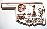 Oklahoma the Sooner State Map Fridge Magnet