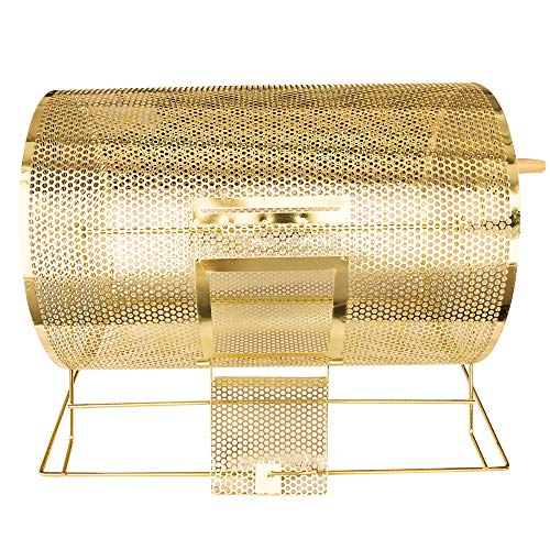 YH Poker Deluxe Large Size Brass Plated Raffle Drawing Ticket Drum Holds 10000 Drawing Tickets Spinning - Plated Poker