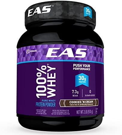EAS 100 Whey Protein Powder Cookies Cream 32oz