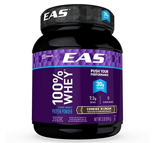 EAS 100% Whey Protein Powder Cookies & Cream 32oz, pack of - Myoplex Whey Protein