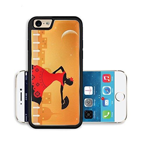 [Liili Premium Apple iPhone 6 iPhone 6S Aluminum Backplate Bumper Snap Case Image ID 21730599 Illustration of flamenco] (Female Flamenco Dancer Costumes)