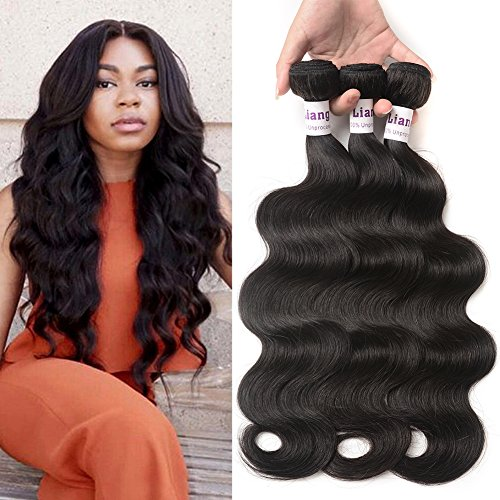 LiangDian HAIR 7A Brazilian Hair Body Wave 3 Bundles 14