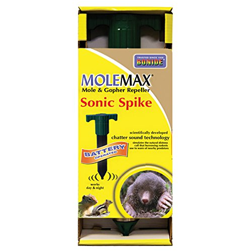 (Bonide (BND61120) - Molemax Sonic Spike Repeller, Battery Operated Mole and Gopher Repellent)