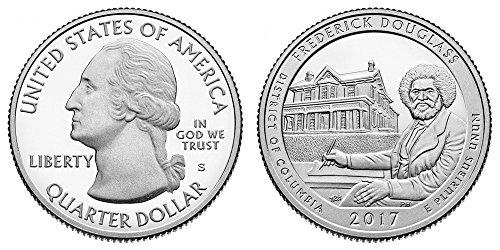 2017 S Frederick Douglass National Park Silver Proof Quarter PF1