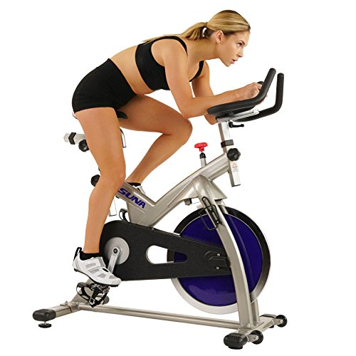 Sunny Health & Fitness Asuna 4100 Commercial Indoor Cycling Bike, Gray