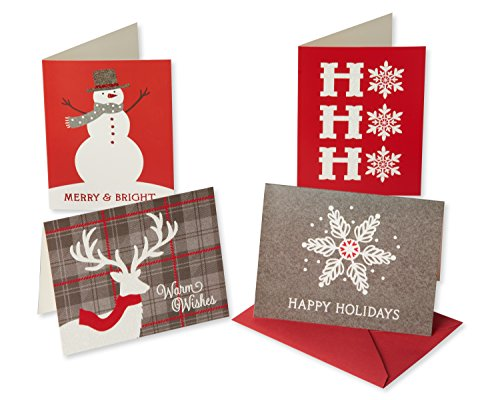 American Greetings 6043651 Red and Gray Christmas Boxed Cards, Multicolored (Card Be Joyful Christmas)