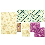 #9: Bee's Wrap Variety Pack, Eco Friendly Reusable Food Wraps, Sustainable Plastic Free Food Storage - 2 Small, 2 Medium, 2 Large, 1 Bread