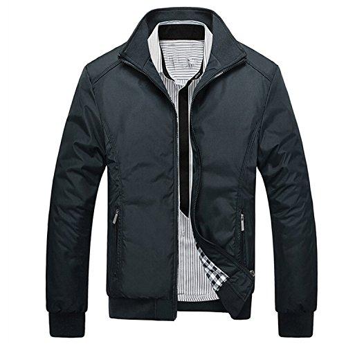 Feroni Jacket Men Overcoat Casual Bomber Jackets Mens Outwear Coat Jaqueta Masculina Veste Homme Brand Clothing Black M