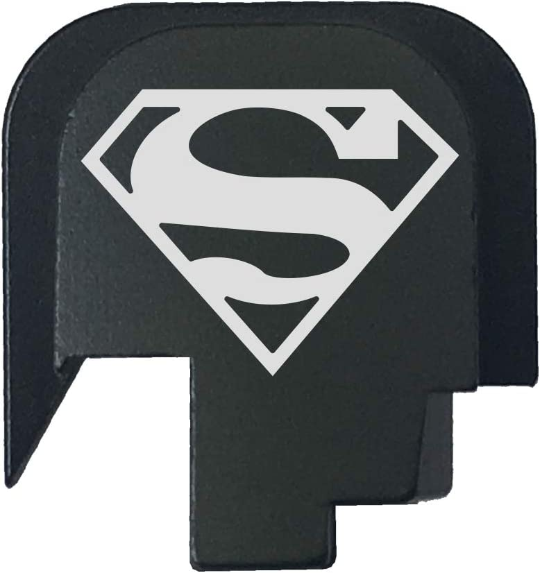 BASTION Laser Engraved Rear Cover Slide Back Plate for Smith & Wesson M&P 45 Shield SUBCOMPACT ONLY - Superman