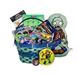 : Video Game Themed Candy and Toy Easter Gift Basket Splatoon Pokemon Mario Sonic Rocket League Zelda Plants vs Zombies