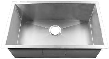 Homeplace HBS3018 Crockett 15-Gauge 30 Inch Stainless Steel Kitchen Sink