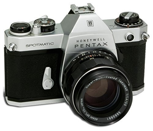 PENTAX SPOTMATIC II 35MM FILM CAMERA WITH 50MM F 1.4 , LENS CAP & LEATHER STRAP Pentax Leather