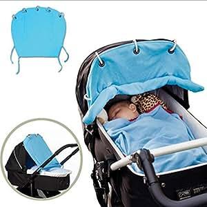 hibote Parasol Cubiertas para carrito silleta algodón 49 * 53CM (azul cielo)