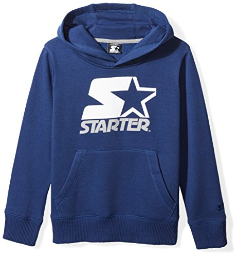 Starter Boys' Pullover Multi-Color Logo Hoodie, Prime Exclusive, Team Navy, M (Multi Color Pullover)