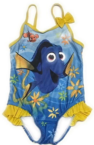 Disney Pixar Toddler Girls Finding Dory One Piece Swimsuit Size 3T Yellow and Blue (Swimsuit Disney One Piece)