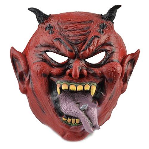 [Halloween Horror Ghost Horn Devil Mask for Cosplay Party Costumes] (Devil Horns For Halloween Costume)